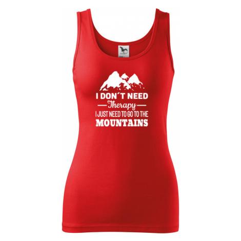 Dámské tričko pro turisty a cestovatele s potiskem hory BezvaTriko