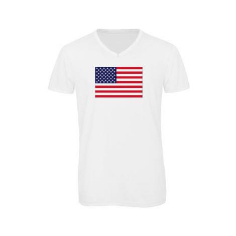 Pánské triko s výstřihem do V USA