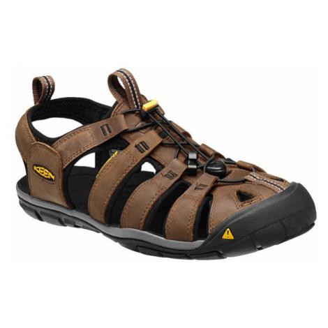 Pánské sandály Keen Clearwater CNX Leather M dark earth/black UK