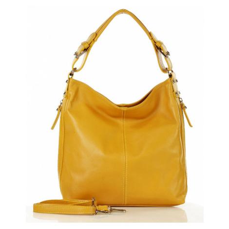 Přírodní kožená taška model 140747 Mazzini UNI