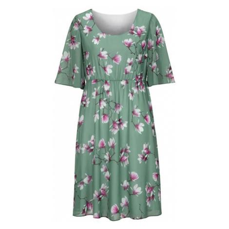 Květované slavnostní šaty se širokými rukávy Cellbes