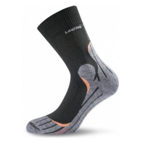 Lasting TWW ponožky, černá/šedá/oranžová