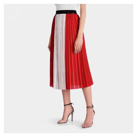 Guess dámská červená skládaná sukně