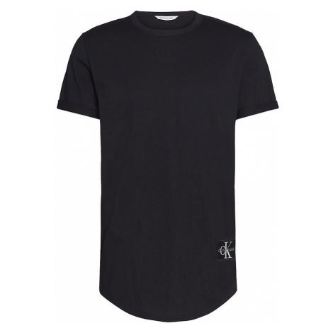 Calvin Klein Calvin Klein pánské černé tričko BADGE TURN UP SLEEVE