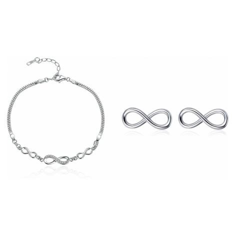 Linda's Jewelry Zvýhodněná sada šperků Nekonečno Ag 925/1000 IS039