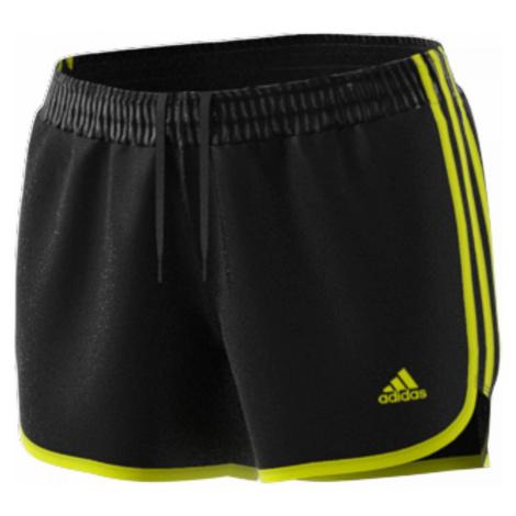 Dámské běžecké šortky adidas Marathon 20 Černá / Žlutá
