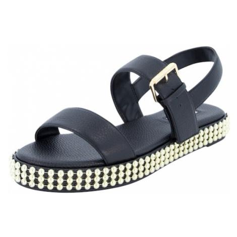 Dune LONDON Páskové sandály 'LYSS' černá