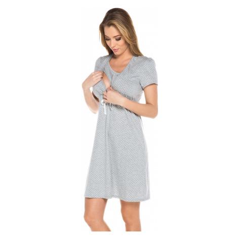 Italian Fashion Bavlněná těhotenská noční košile Alena šedá