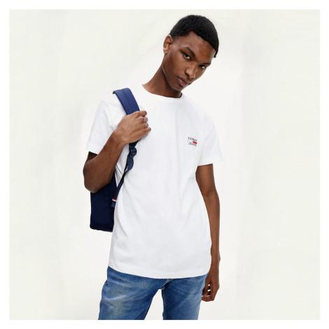 Tommy Jeans pánské bílé tričko Chest