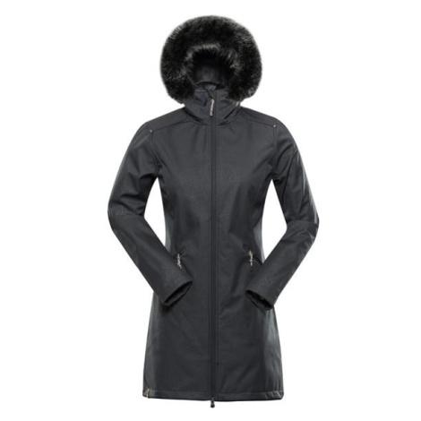 Priscilla 5 ins. Šedá dámský softshellový kabát ALPINE PRO