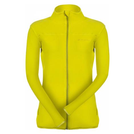 Dámská mikina Alpine Pro CASSIUSA 2 - žluto-zelená