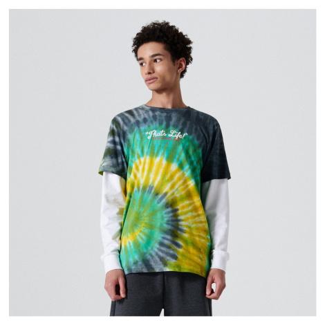 Cropp - Bavlněné tričko s batikovaným efektem - Zelená