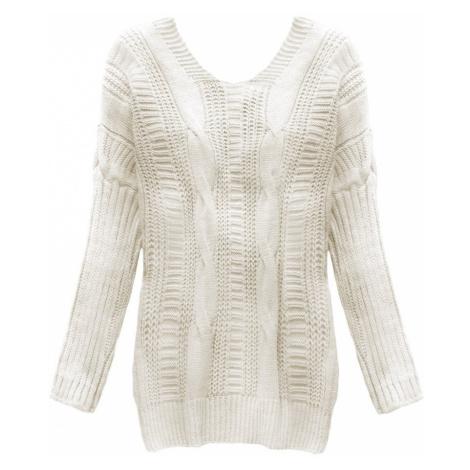 Béžový svetr s vázáním na zádech (183ART) Made in Italy