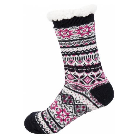 Silné teplné ponožky Alpine Pro SINNIR - růžová