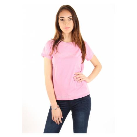 Pepe Jeans dámské růžové tričko