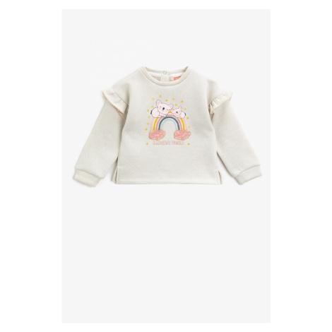 Koton Baby Girl Ecru Sweatshirt