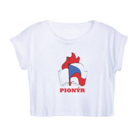 Dámské tričko Organic Crop Top Pionýr
