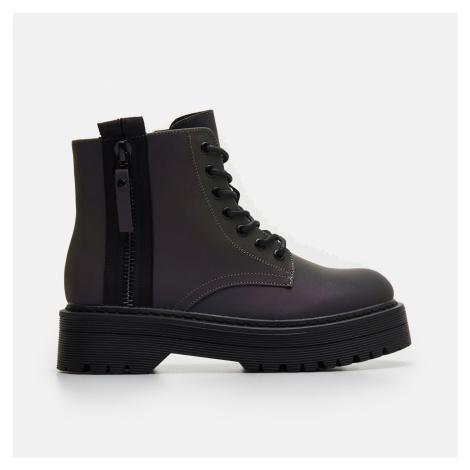 Cropp - Dámské kotníkové boty na podpatku - Černý