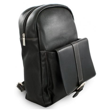 Černý kožený praktický batoh Fridlie Arwel