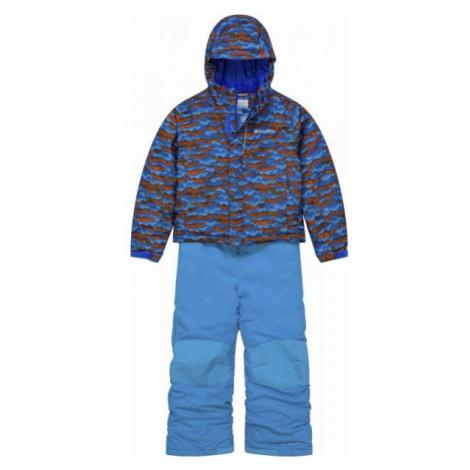 Columbia BUGA SNOW SET modrá - Dětský zimní komplet