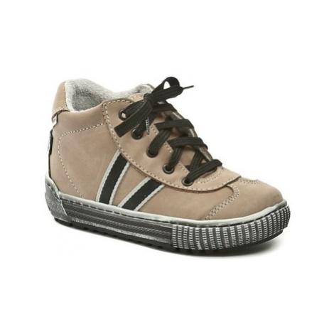 Pegres 1401 Elite pískové dětské botičky Béžová