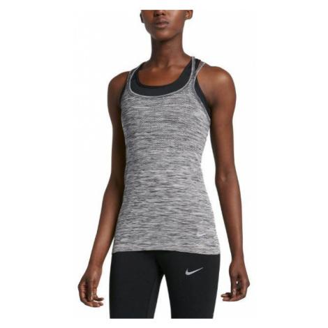 Dámské běžecké tílko Nike Dri-FIT Knit Šedá
