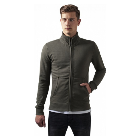 Loose Terry Zip Jacket - olive Urban Classics