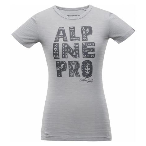 Dámské triko Alpine Pro ALIANA - světle šedá