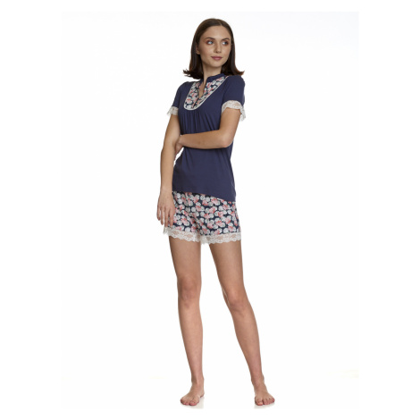 Dámské krátké modré pyžamo Vive Maria Asijský sen