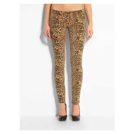 Guess GUESS dámské kalhoty s leopardím motivem