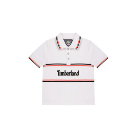 Timberland Polokošile T25Q83 D Bílá Regular Fit