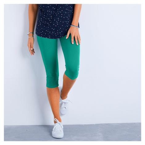 Blancheporte Jednobarevné korzárské kalhoty mátová