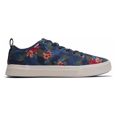 NAVY TROPICAL PRINT MN TRVLO SNEAK Toms
