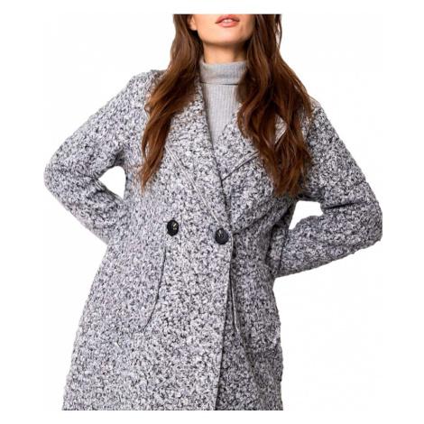 Světle šedý lehký teddy kabátek BASIC