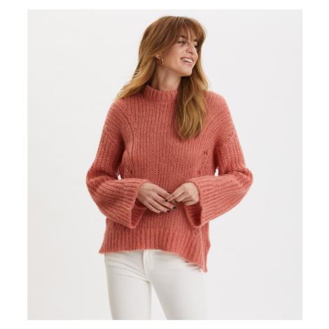 Svetr Odd Molly Comfort Oversized Sweater - Červená