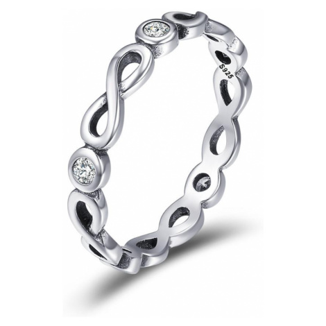 Linda's Jewelry Stříbrný prsten Simple Nekonečno IPR043 Velikost: 56