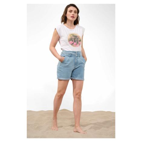 Denimové high waist kraťasy Orsay
