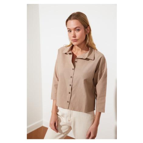 Trendyol Camel Basic Shirt