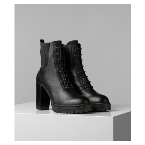 Kotníková Obuv Karl Lagerfeld Karl X Carine Ankle Track Boot - Černá