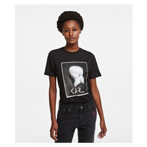 Tričko Karl Lagerfeld Karl Legend Print T-Shirt - Černá