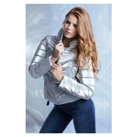 Guess stříbrná zimní bunda Foil Nylon Jacket