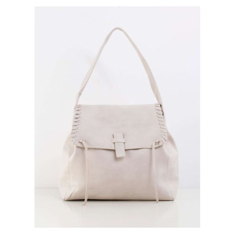 Light beige large bag with a flap