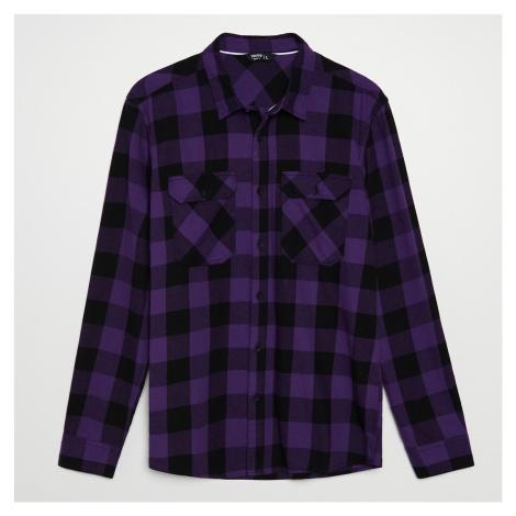 Cropp - Kostkovaná košile - Fialová