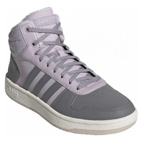 adidas HOOPS 2.0 MID hnědá - Dámská volnočasová obuv