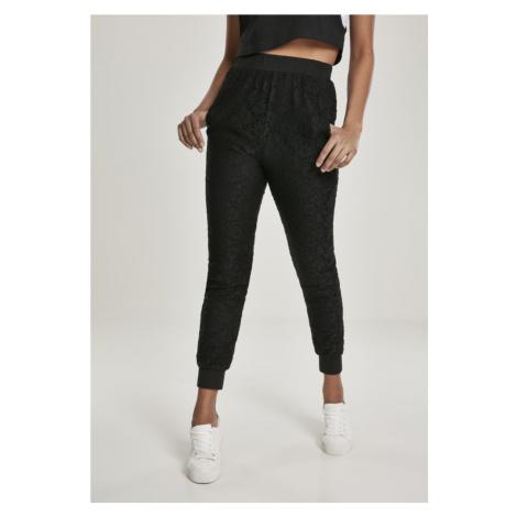 Ladies Lace Jersey Jog Pants Urban Classics