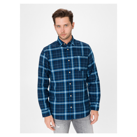 Jeff Košile Jack & Jones Modrá
