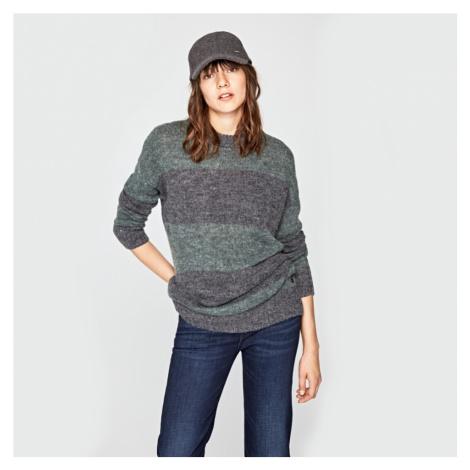 Pepe Jeans dámský zelený pruhovaný svetr Isabella