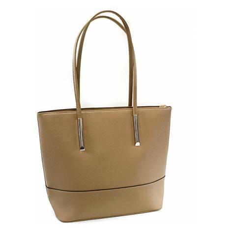 Béžová elegantní dámská kabelka do ruky i na rameno Udele Tapple