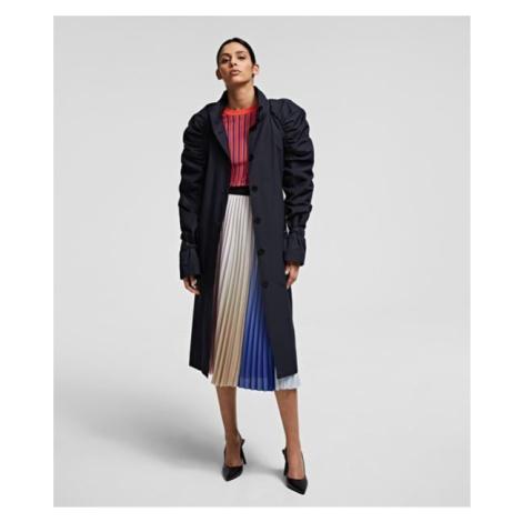 Kabát Karl Lagerfeld Draped Trench Coat - Černá