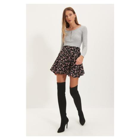 Trendyol Black Printed Skirt